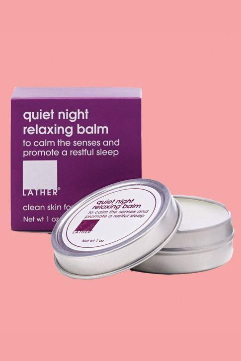 "<p><strong>lather</strong></p><p>lather.com</p><p><strong>$9.00</strong></p><p><a rel=""nofollow"" href=""https://www.lather.com/quiet-night-relaxing-balm.html?___SID=U"">Shop Now</a></p><p>""I rub this on my temples, my neck, and the bottom of my feet and then I put on a meditation from my favorite app, <em><a rel=""nofollow"" href=""https://itunes.apple.com/us/app/stop-breathe-think/id778848692?mt=8"">Stop, Breathe & Think</a></em>. Sometimes, I fall asleep with my headphones still in!"" <em> - Leah S., 32 </em></p>"