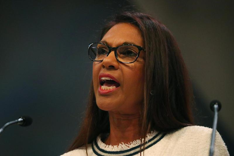 Anti-Brexit campaigner Gina Miller makes a speech at the Liberal Democrat Party Conference (Reuters)