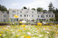 """<p>For those of you looking to escape on the day of the royal wedding, why not book in at the Dorchester Collection's luxury hotel and spa? Coworth Park is hosting a Royal Wedding Afternoon Tea from 1st-28th May using produce sourced from the nearby Windsor Estate. Guests can tuck into a lemon and elderflower sponge inspired by Harry and Meghan's wedding cake alongside golden pastries and traditional scones.<br> Tickets cost £35 per person. To book, please visit the <a rel=""""nofollow noopener"""" href=""""https://www.dorchestercollection.com/en/ascot/coworth-park/"""" target=""""_blank"""" data-ylk=""""slk:website"""" class=""""link rapid-noclick-resp"""">website</a>. <em>[Photo: Coworth Park]</em> </p>"""