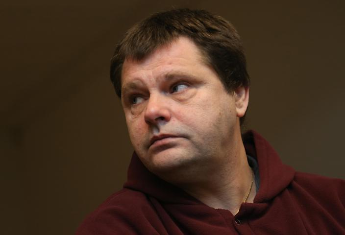 Belgian Frank Van Den Bleeken, a convicted serial rapist, attends a hearing to determine if he will be allowed to be euthanised, at the Court of Brussels on November 25, 2013 (AFP Photo/Virginie Lefour)