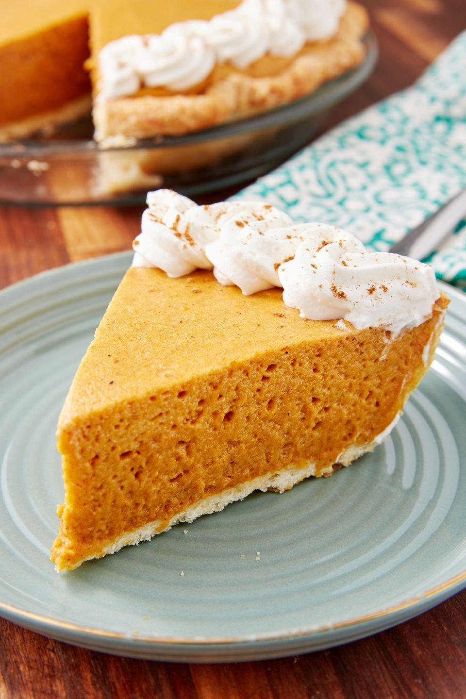 """<p>This pie is SO light and fluffy.</p><p>Get the recipe from <a href=""""https://www.delish.com/cooking/recipe-ideas/a28702699/pumpkin-chiffon-pie-recipe/"""" rel=""""nofollow noopener"""" target=""""_blank"""" data-ylk=""""slk:Delish"""" class=""""link rapid-noclick-resp"""">Delish</a>.</p>"""
