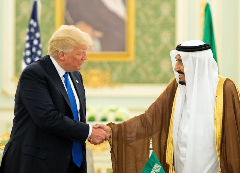 US President Donald Trump chose Saudi Arabia for his first foreign trip after taking office, arriving in May 2017 to much fanfare and ceremony