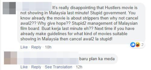 """""""Hustlers"""" fans are not happy with the movie not releasing in Malaysia."""