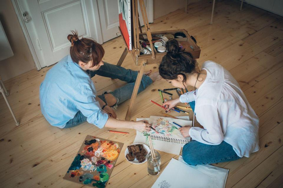 "<p>Whether you have an artistic bone or not, relax with your partner by making some beautiful art this Valentine's Day. You can buy paint by the numbers kits, take an online class, or simply sketch whatever your heart tells you. </p><p><a class=""link rapid-noclick-resp"" href=""https://go.redirectingat.com?id=74968X1596630&url=https%3A%2F%2Fwww.walmart.com%2Fsearch%2F%3Fquery%3Dcanvases&sref=https%3A%2F%2Fwww.thepioneerwoman.com%2Fholidays-celebrations%2Fg35118424%2Fthings-to-do-on-valentines-day%2F"" rel=""nofollow noopener"" target=""_blank"" data-ylk=""slk:SHOP CANVASES"">SHOP CANVASES</a></p>"