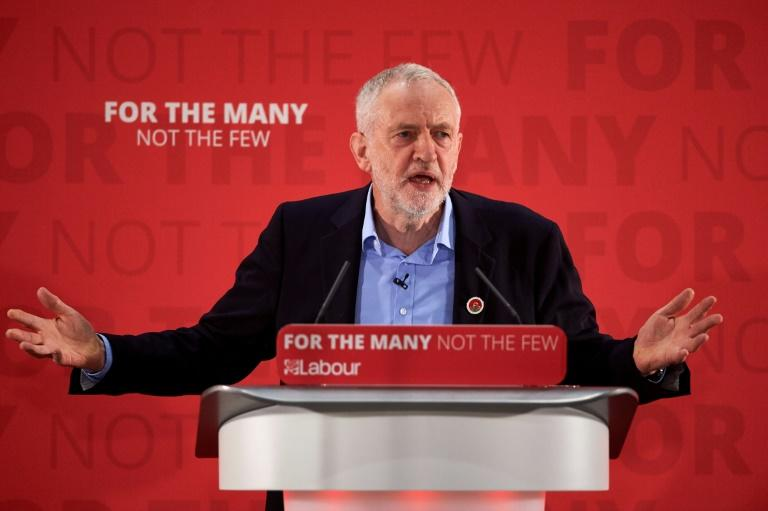Jeremy Corbyn's opposition Labour party are more than 20 points behind Britain's ruling Conservatives heading into the general election in June