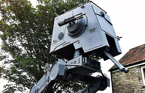 A 16-foot AT-ST replica appears on eBay.