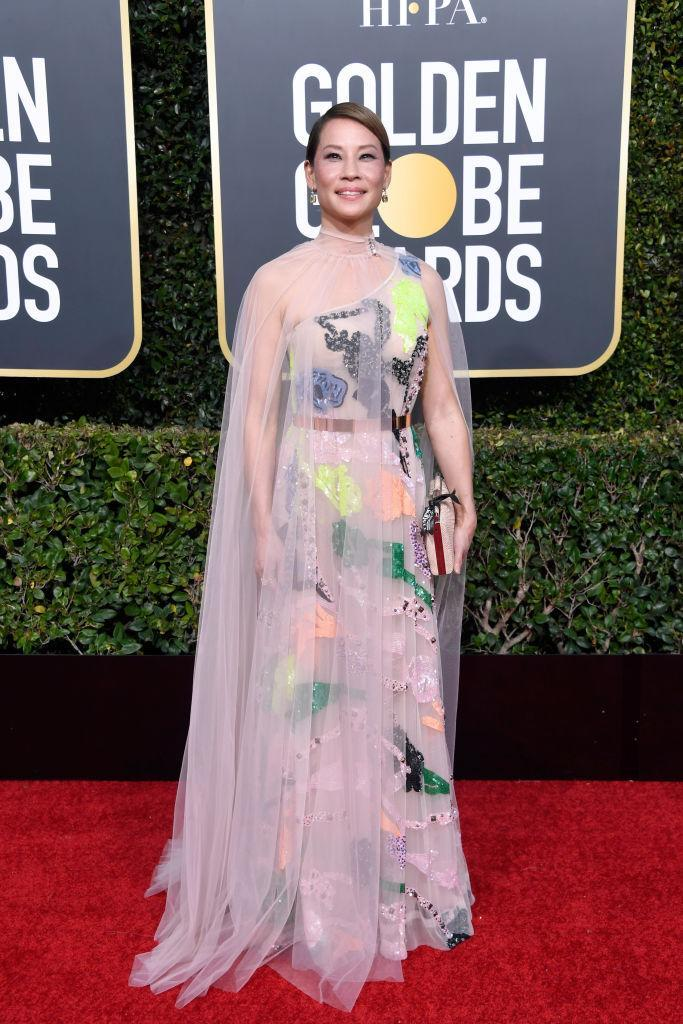 <p>Lucy Liu attends the 76th Annual Golden Globe Awards at the Beverly Hilton Hotel in Beverly Hills, Calif., on Jan. 6, 2019. (Photo: Getty Images) </p>
