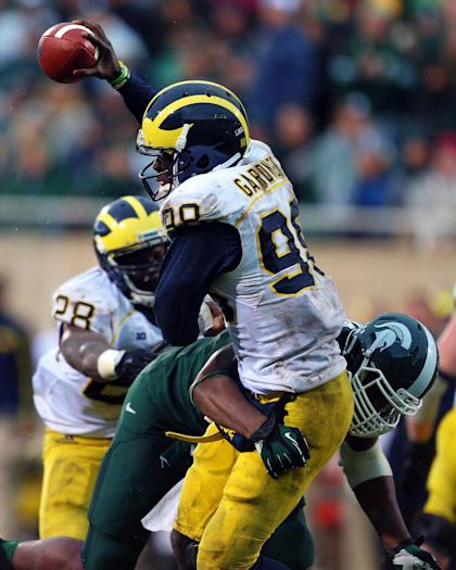Devin Gardner was sacked eight times by Michigan State last year. (USA TODAY Sports)