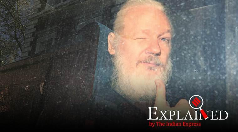 Julian Assange, Julian Assange arrested, Wikileaks, Ecuador, Assange trial, Assange arrest, Julian Assange US, Indian Express