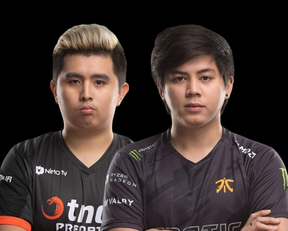 "Timothy ""Tims"" Randrup and Djardel ""DJ"" Mampusti. (Photo: TNC Predator Facebook, Fnatic Twitter)"