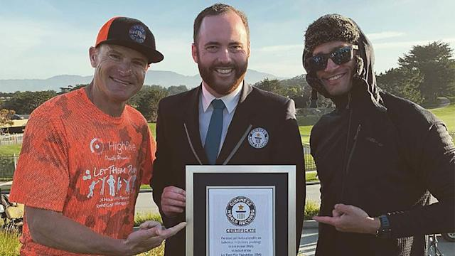 Eric Byrnes, a former Major League Baseball player turned endurance athlete set a new speed golf world record earlier this week, playing 420 holes of golf in a 24-hour span.