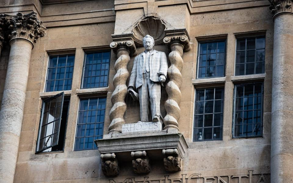 Oriel Colleges statue of Cecil Rhodes at the University of Oxford - Laurel Chor/Getty