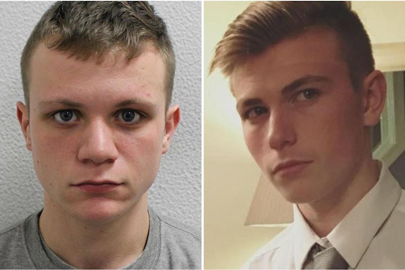 Daniel Grogan, 20, has been sentenced to life with a minimum of 21 years for murdering Jay Sewell, right (Met Police)