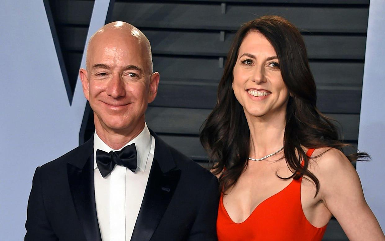 Jeff Bezos and his wife MacKenzie Bezos - Invision