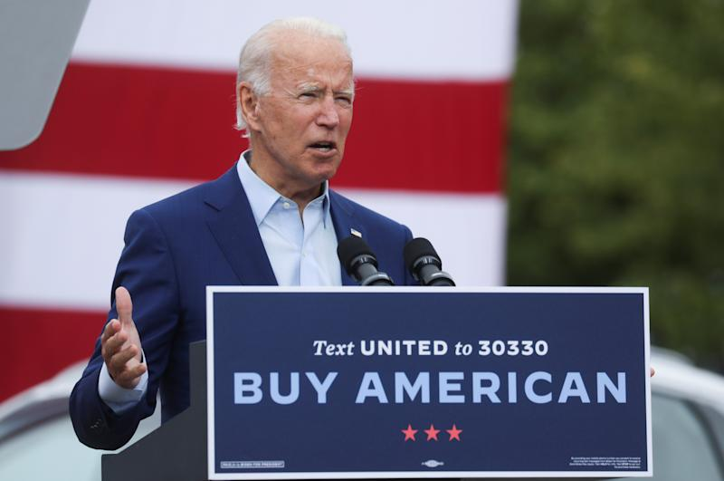 Democratic U.S. presidential nominee and former Vice President Joe Biden speaks about President Donald Trump's recently revealed comments about the coronavirus disease (COVID-19) pandemic during a campaign stop in Warren, Michigan, U.S., September 9, 2020. (Leah Millis/Reuters)