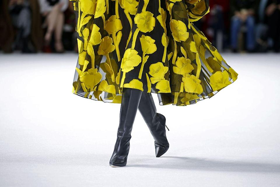<p>The most versatile shoe choice, a black pointed-toe leather boot will pair perfectly with the majority of your wardrobe. </p><p>Carolina Herrera (<em>left</em>). </p>