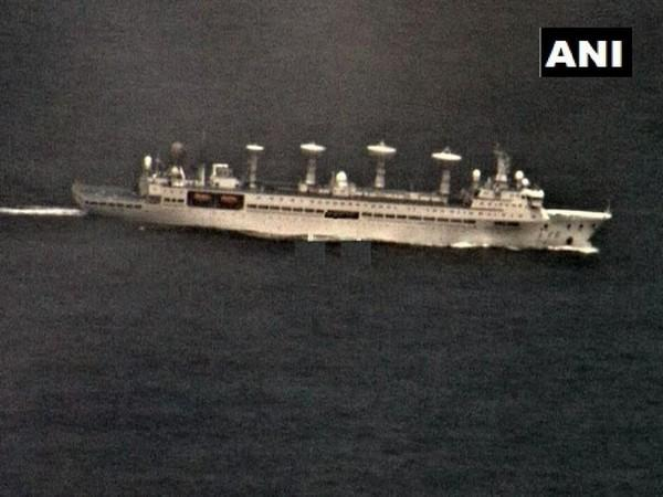 The Yuan Wang class research vessel had entered the Indian Ocean Region from Malacca straits last month (Photo/ANI)