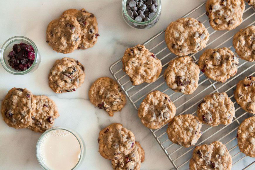 """<p>If you love cherries, Michigan is the place to be in the summertime. Even during the holidays, however, residents find ways to munch on the tart fruits. These chocolate cherry cookies incorporate chewy dried cherries for an extra bite.</p><p>Get the recipe from <a href=""""https://whatsgabycooking.com/chocolate-cherry-coconut-cookies/chocolate-cherry-coconut-cookies-2/"""" rel=""""nofollow noopener"""" target=""""_blank"""" data-ylk=""""slk:What's Gaby Cooking"""" class=""""link rapid-noclick-resp"""">What's Gaby Cooking</a>.</p>"""