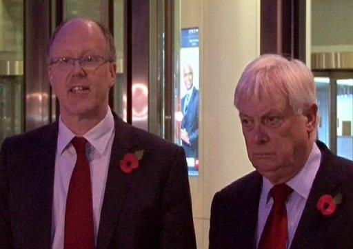 """""""I have decided that the honourable thing to do is to step down,"""" George Entwistle (L) announced late Saturday"""