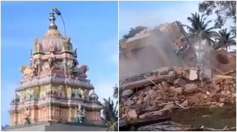 """<div class=""""paragraphs""""><p>Nanjangud temple before and after demolition.</p></div>"""