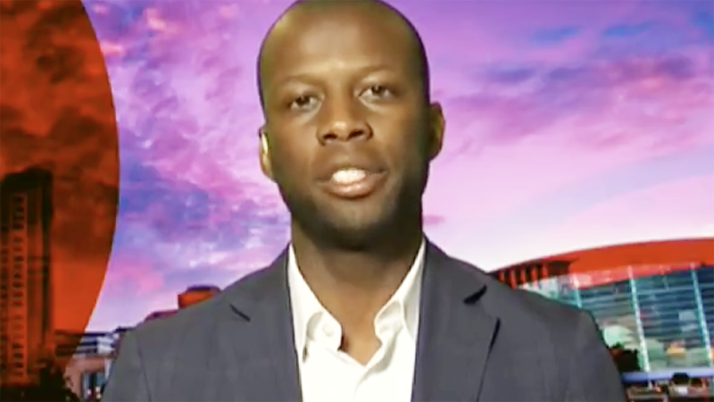 Bruce Djite, pictured here discussing racism in Australian sport on Q&A.