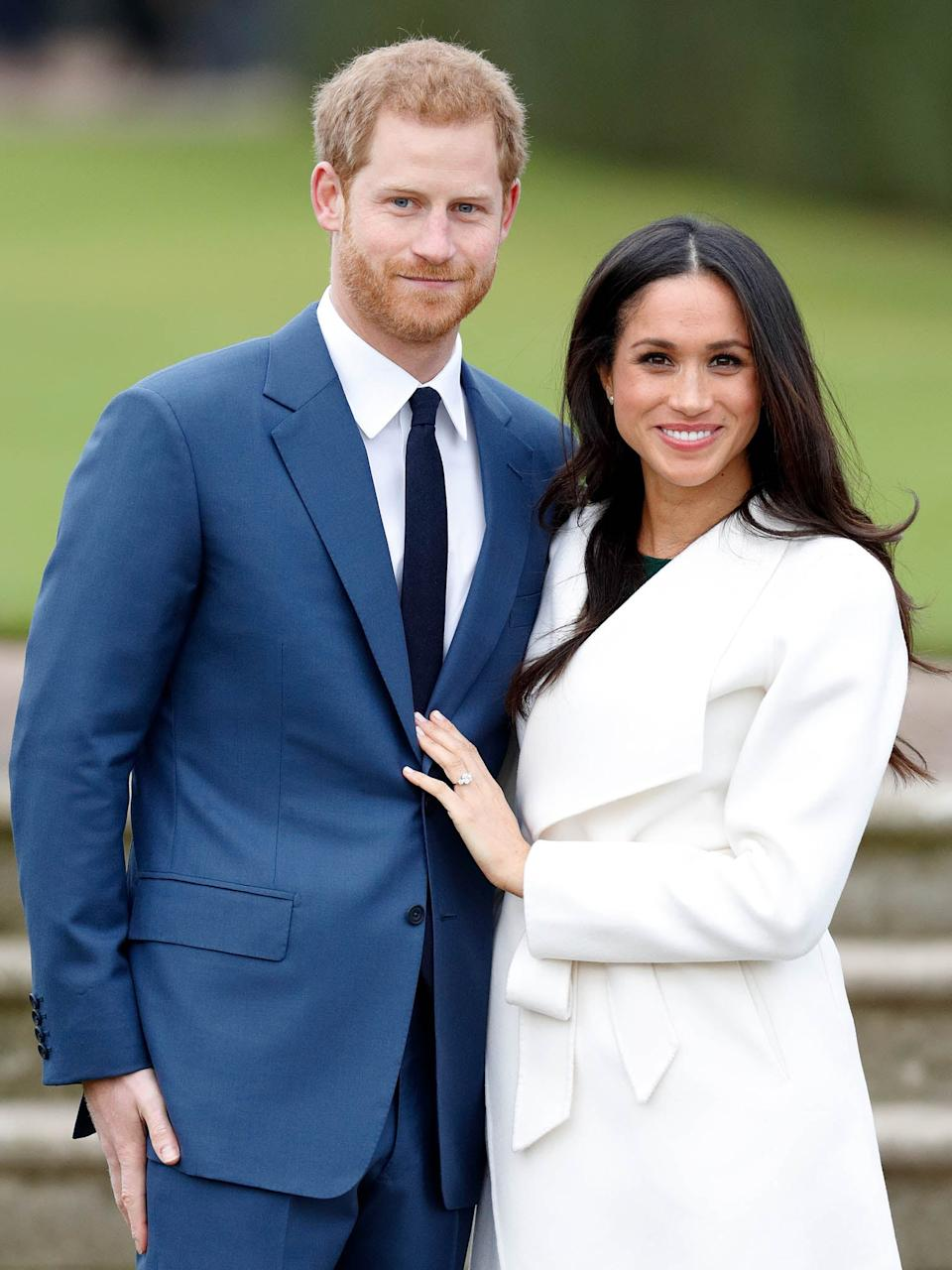 Prince Harry and Meghan Markle announced their engagement on 27 November Getty Images