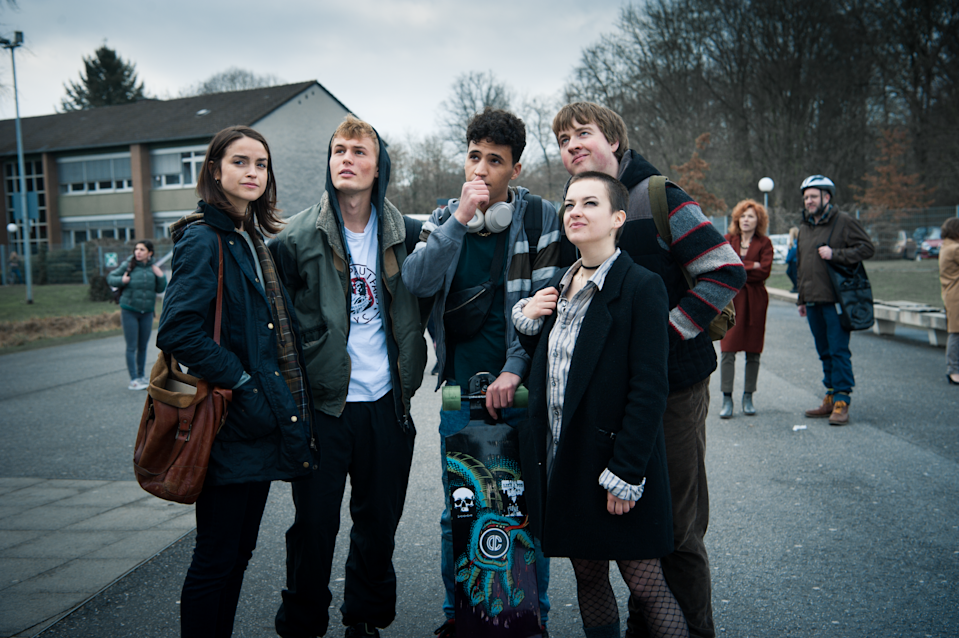 """<p>This German coming-of-age drama loosely based on the novel <strong>The Wave</strong> by Morton Rhue, centers around a group of teens who fall under the influence of a mystery new classmate and dream up an idealistic revolt against nationalism - though eventually, those ideas evolve into dangerous action.</p> <p><a href=""""http://www.netflix.com/title/80218819"""" class=""""link rapid-noclick-resp"""" rel=""""nofollow noopener"""" target=""""_blank"""" data-ylk=""""slk:Watch We Are the Wave on Netflix now"""">Watch <strong>We Are the Wave</strong> on Netflix now</a>.</p>"""