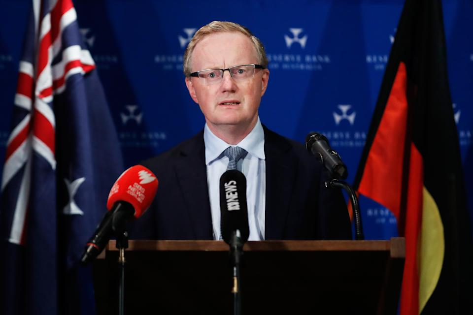 SYDNEY, AUSTRALIA - MARCH 19: Governor of the Reserve Bank of Australia, Philip Lowe, makes a speech on March 19, 2020 in Sydney, Australia. The Reserve Bank of Australia has cut official interest rates to a record low of 0.25% in a bid to protect the economy from the financial fallout of the global COVID-19 pandemic.  (Photo by Brendon Thorne/Getty Images)