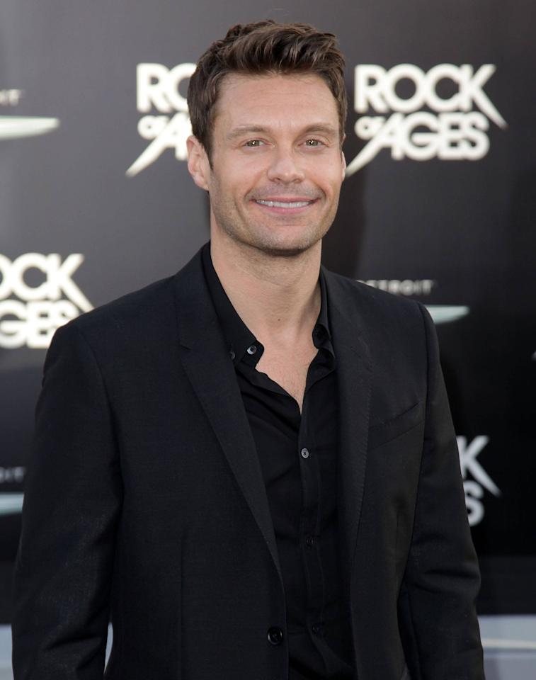 "Ryan Seacrest Premiere of Warner Bros. Pictures' ""Rock Of Ages"" at Grauman's Chinese Theatre - Arrivals  Hollywood, California - 08.06.12 Mandatory Credit: Brian To/WENN.com"