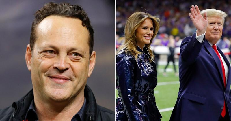 Donald and Melania Trump Sit with Vince Vaughn at National Championship Game Amid Impeachment