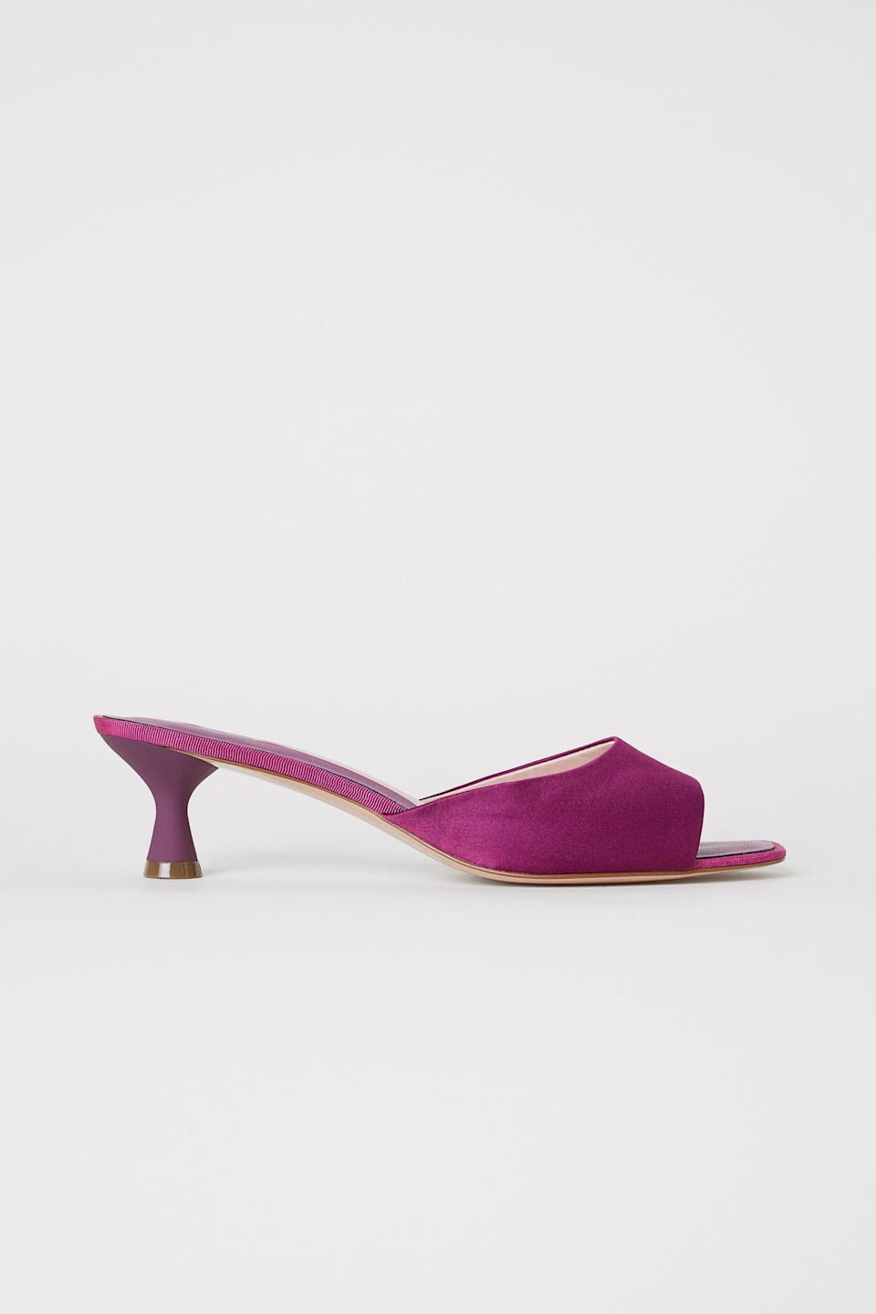 I'm obsessed with this heel shape and color. Available in sizes 4.5 to 10.