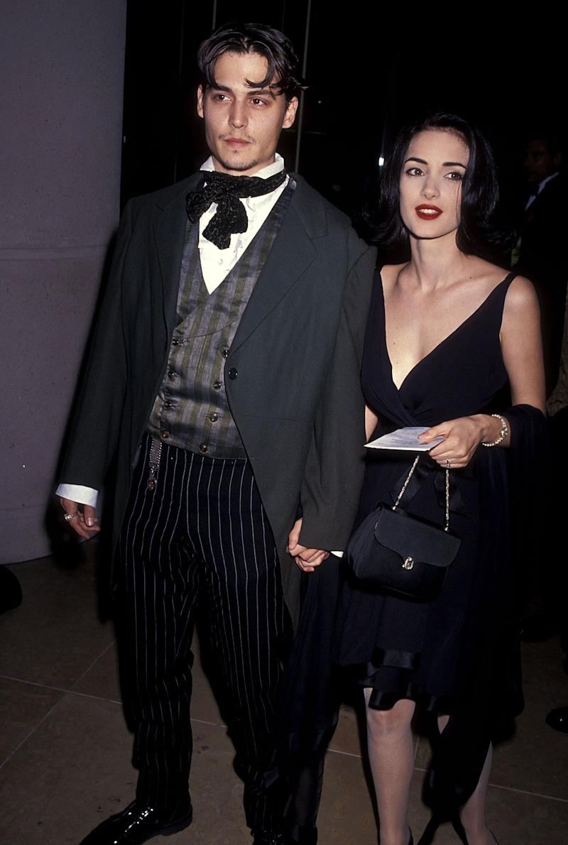 Depp and Ryder attend pictured in 1991 (Photo: Ron Galella, Ltd. via Getty Images)