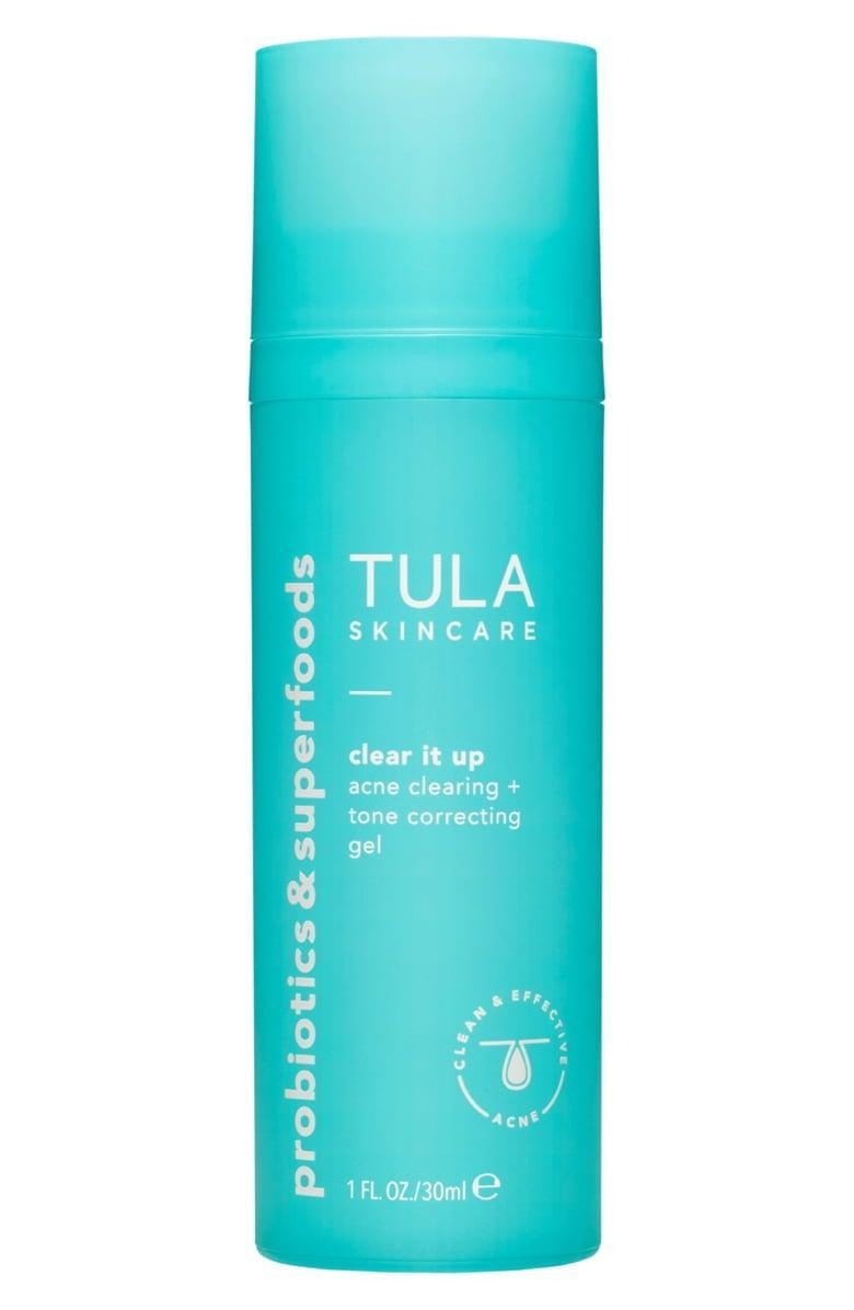 <p>Battle maskne and breakouts with the <span>Tula Acne Clear It Up Acne Clearing and Correcting Gel</span> ($36).</p>