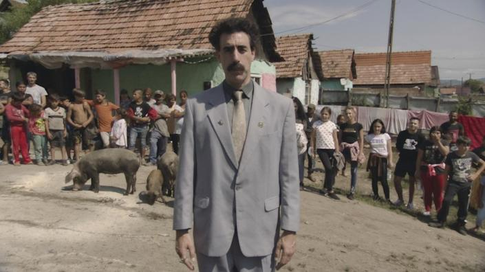 "Sacha Baron Cohen in ""Borat Subsequent Moviefilm,"" a sequel to his 2006 comedy, ""Borat."""