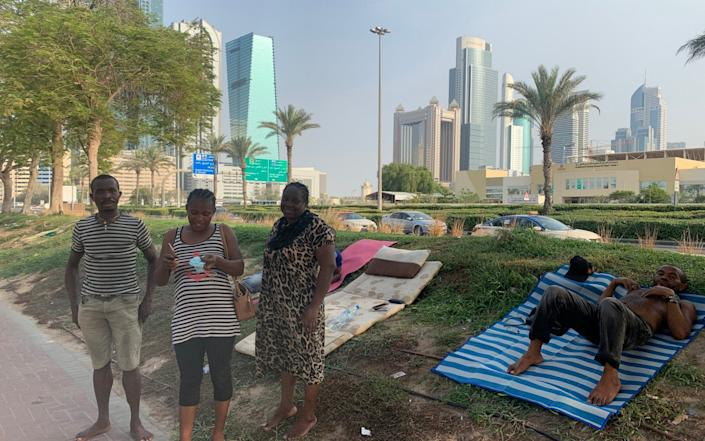 Migrant labourers have been made destitute by the coronavirus lockdown in Dubai - Telegraph Media Group