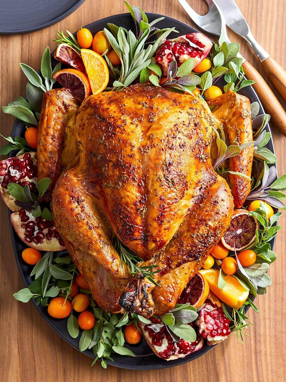 This roast turkey recipe, complete with glaze options, is a compilation of our Test Kitchen's best advice from 90 years of testing and tasting Thanksgiving turkeys.
