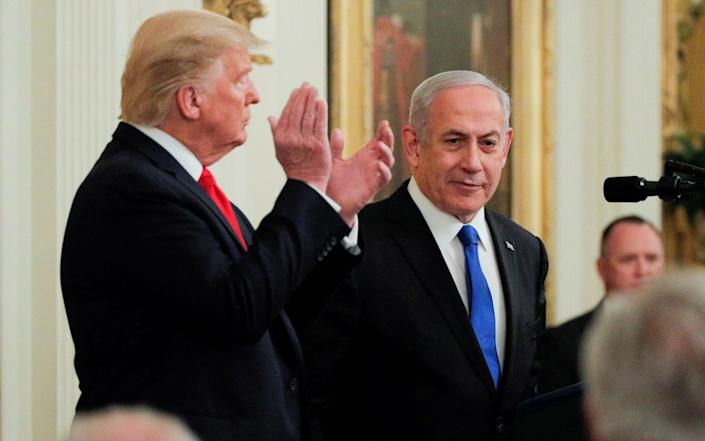 File image of President Donald Trump applauding Israel's Prime Minister Benjamin Netanyahu at the White House in 2020 - Reuters/Reuters