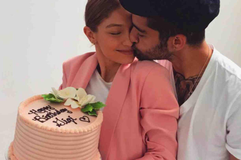 Loved up: Gigi Hadid and Zayn Malik celebrate her 22nd birthday: Gigi Hadid/Instagram