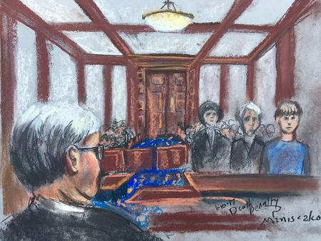 Dylann Roof, condemned to death by a jury for the hate-fueled killings of nine black parishioners at a Bible study meeting in 2015, is shown in this courtroom sketch in Charleston, South Carolina, U.S., January 10, 2017.   REUTERS/Rob Maniscalco