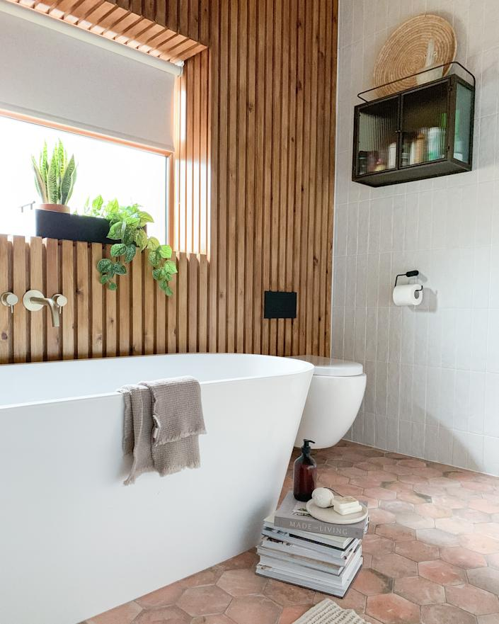 The bathroom has a resort-style feel. (Supplied Drench)