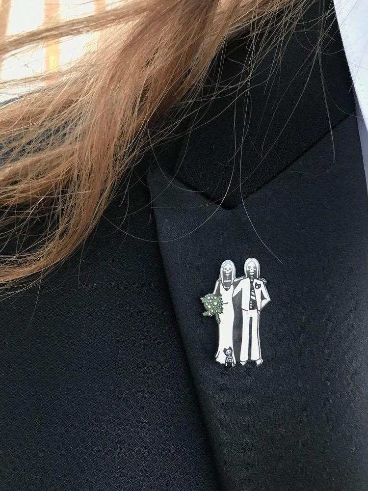 Neil Mason's custom pin | Courtesy Neil Mason