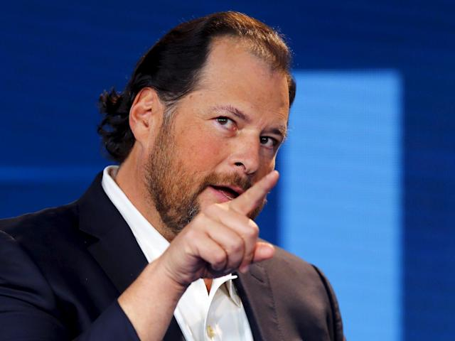 Salesforce CEO Marc Benioff REUTERS/Mike Blake