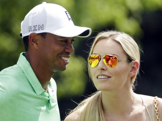 "Lindsey Vonn was rooting for <a class=""link rapid-noclick-resp"" href=""/pga/players/147/"" data-ylk=""slk:Tiger Woods"">Tiger Woods</a> on Sunday. (AP Photo/Charlie Riedel)"