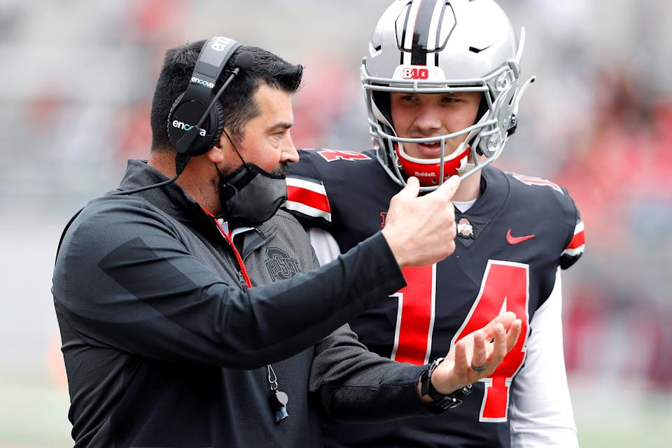 WATCH: Ohio State quarterbacks discuss upcoming competition
