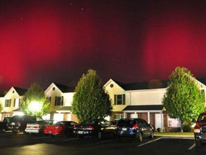 Red and pink streaks filled the sky across parts of the country after Earth's magnetic field was hit by a coronal mass ejection, enabling the Northern Lights to be seen across the southeastern part of the United States. The ejection hit on Monday at approximately...