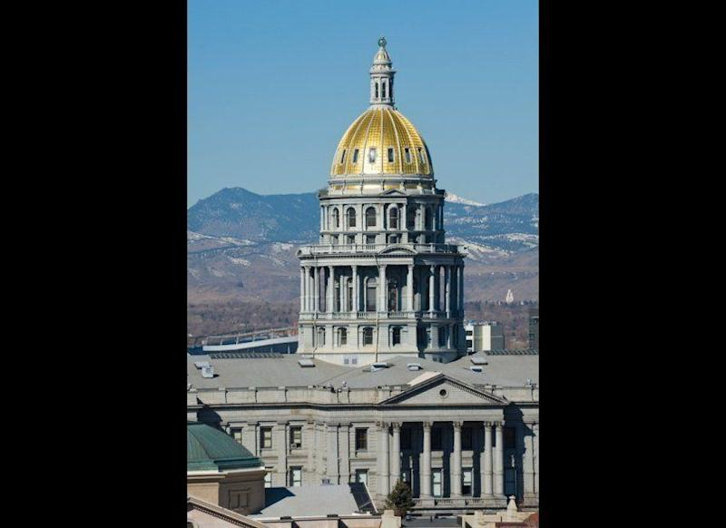 "<strong>COLORADO STATE CAPITOL</strong> Denver, Colorado <strong>Year completed:</strong> 1893 <strong>Architectural style:</strong> Neo-Classical <strong>FYI:</strong> In the capitol's rotunda, 16 stained glass windows depict the state's ""Hall of Fame,"" which includes figures such as frontiersman Kit Carson and Alexander Majors, co-founder of the firm that established the Pony Express. <strong>Visit:</strong> Historical tours leave hourly Monday through Friday, from 10 a.m. to 3 p.m. The House and Senate chambers open for tours mid-January to mid-May (from 9 a.m. to 3 p.m.) Gallery guides are on hand to answer any questions."