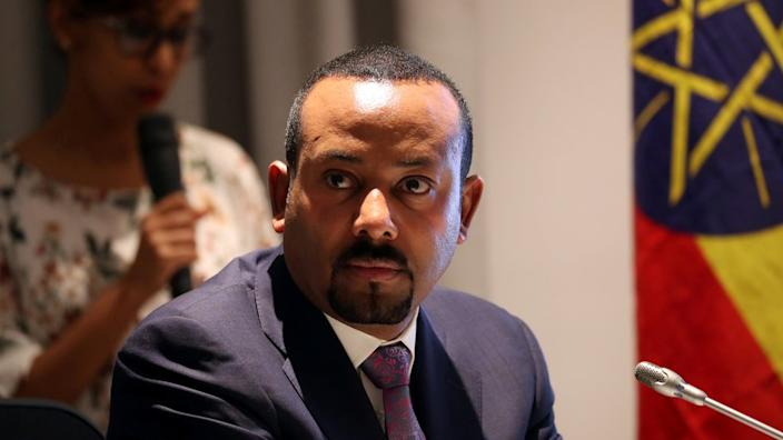 Ethiopia's Prime Minister Abiy Ahmed attends a signing ceremony with European Commission President Ursula von der Leyen in Addis Ababa, Ethiopia 7 December 2019.