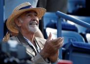 FILE PHOTO: Actor Connery awaits the start of the U.S. Open men's final match between Serbia's Djokovic and Britain's Murray in New York