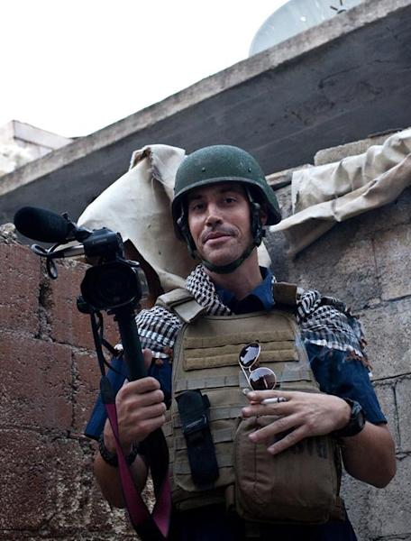 US freelance reporter James Foley, who was kidnapped in war-torn Syria and later beheaded, is pictured on November 5, 2012 in Aleppo (AFP Photo/Nicole Tung)