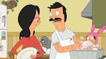 """<p><a class=""""link rapid-noclick-resp"""" href=""""https://go.redirectingat.com?id=74968X1596630&url=https%3A%2F%2Fwww.hulu.com%2Fseries%2Fbobs-burgers-fdeb1018-4472-442f-ba94-fb087cdea069%3Fcmp%3D7958%26ds_rl%3D1263136%26gclid%3DCjwKCAjw5Kv7BRBSEiwAXGDElVWywZ3N4yc3dm-2aW-ZRm8pbFctuHFT91b_nENPaE7kYC-0gxispRoCGBcQAvD_BwE%26gclsrc%3Daw.ds&sref=https%3A%2F%2Fwww.cosmopolitan.com%2Fentertainment%2Ftv%2Fg25240478%2Fthanksgiving-tv-episode-guide%2F"""" rel=""""nofollow noopener"""" target=""""_blank"""" data-ylk=""""slk:Stream Now"""">Stream Now</a></p><p>No Thanksgiving is complete without an episode of <em>Bob's Burgers</em>, and this one takes the cake for its hilarious depiction of meal prep-gone-wrong. When Bob's turkey finds its way—mysteriously—to the toilet, Louise launches an investigation to learn who botched the bird. </p>"""